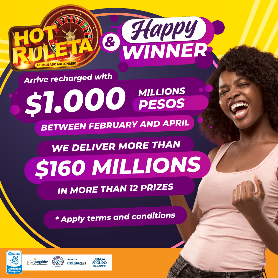 Hot ruleta Enter for a spectacular diamond prize of up to 300 million